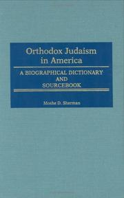 Cover of: Orthodox Judaism in America