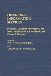 Cover of: Financing information services |