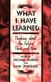 Cover of: What I Have Learned |