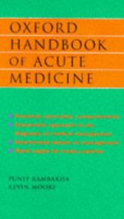 Cover of: Oxford handbook of acute medicine | Punit S. Ramrakha