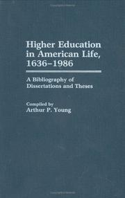 Cover of: Higher education in American life, 1636-1986
