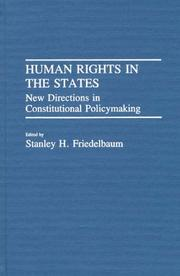 Cover of: Human Rights in the States | Stanley H. Friedelbaum
