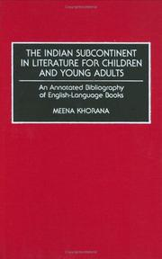 Cover of: Indian subcontinent in literature for children and young adults | Meena Khorana