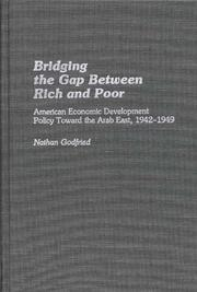 Cover of: Bridging the gap between rich and poor