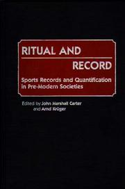 Cover of: Ritual and record |