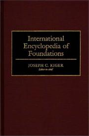 Cover of: International encyclopedia of foundations |