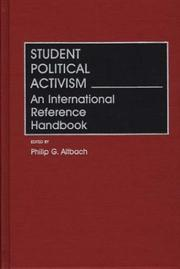 Cover of: Student political activism |