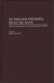 Cover of: Of dreams deferred, dead or alive |