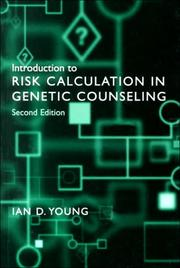 Cover of: Introduction to risk calculation in genetic counseling