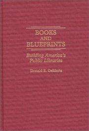 Cover of: Books and blueprints