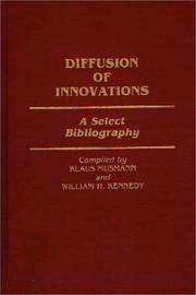 Cover of: Diffusion of innovations | Klaus Musmann
