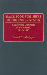 Cover of: Black book publishers in the United States