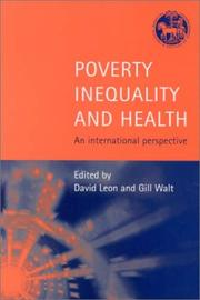 Cover of: Poverty, Inequality and Health |