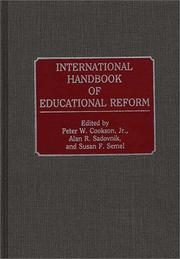 Cover of: International handbook of educational reform