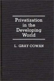 Cover of: Privatization in the developing world