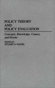 Cover of: Policy Theory and Policy Evaluation