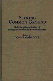 Cover of: Seeking Common Ground | Donna Gabaccia