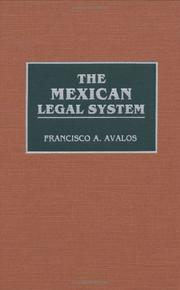 Cover of: The Mexican legal system