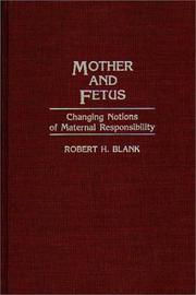 Cover of: Mother and fetus