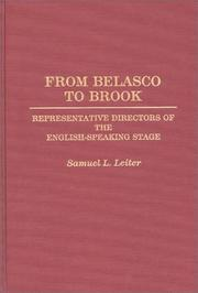 Cover of: From Belasco to Brook | Samuel L. Leiter