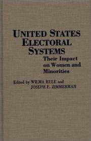 Cover of: United States electoral systems