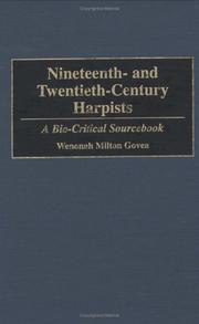 Cover of: Nineteenth- and twentieth-century harpists | W. M. Govea