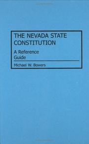Cover of: The Nevada state constitution
