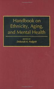Cover of: Handbook on ethnicity, aging, and mental health