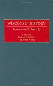 Cover of: Wisconsin history | Barbara Dotts Paul