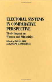 Cover of: Electoral systems in comparative perspective