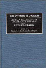 Cover of: The moment of decision