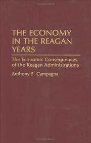 Cover of: The economy in the Reagan years