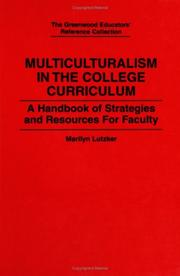 Cover of: Multiculturalism in the college curriculum