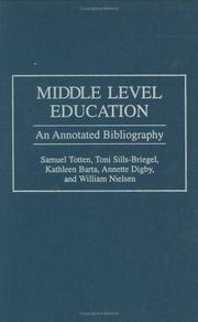 Cover of: Middle level education |