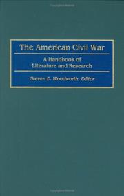 Cover of: The American Civil War: A Handbook of Literature and Research