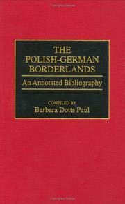 Cover of: The Polish-German borderlands