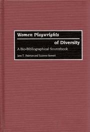 Cover of: Women playwrights of diversity