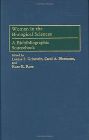 Cover of: Women in the Biological Sciences |