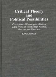 Cover of: Critical theory and political possibilities