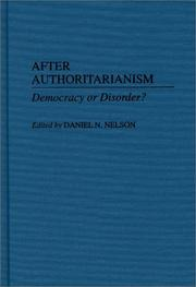 Cover of: After Authoritarianism
