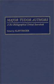 Cover of: Major Tudor Authors | Alan Hager