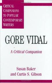 Cover of: Gore Vidal