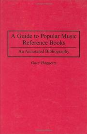 Cover of: A guide to popular music reference books