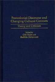 Cover of: Postcolonial discourse and changing cultural contexts |