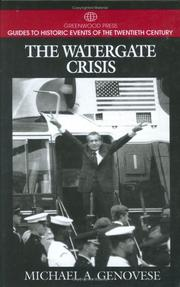 Cover of: The Watergate crisis
