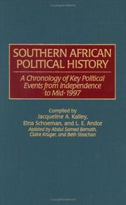 Cover of: Southern African political history