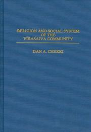 Cover of: Religion and social system of the Vīraśaiva community