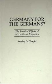 Cover of: Germany for the Germans?