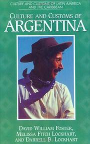 Cover of: Culture and customs of Argentina | David William Foster