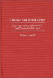 Cover of: Finance and world order